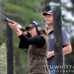 Bridgette and Jeff clay target shooting at Hau Ora