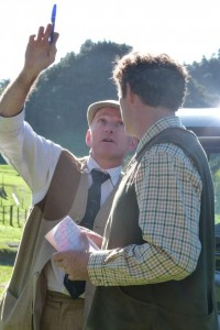 Jeff and Paul discussing clay bird shooting tactics